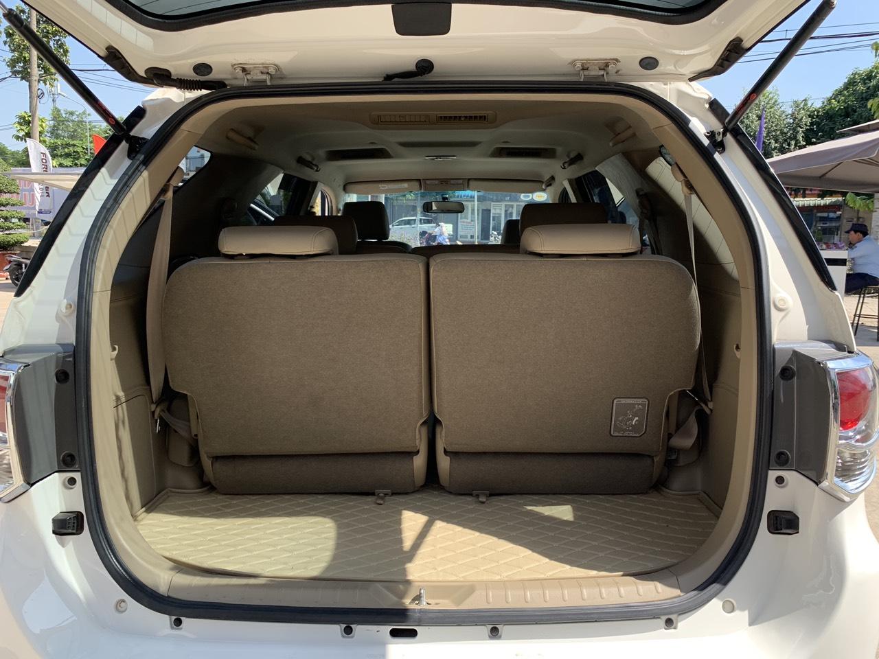 Cần bán gấp Toyota Fortuner 2.7V TRD Bản Thể Thao đời 2015, màu trắng chuẩn chỉ 35.000km