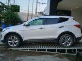 Cần bán lại xe Hyundai Santa Fe đời 2015, màu trắng máy xăng bản Full giá 870 triệu tại Tp.HCM