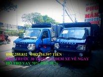 Gía xe tải nhẹ 870kg dongben thùng mui bạt bán trả góp 0907255832 giá 30 triệu tại Bình Phước