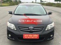 Bán Toyota Corolla Altis 1.8G AT đời 2008, màu đen giá 468 triệu tại Hà Nội