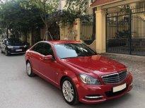 Cần bán xe Mercedes C250 sx 2012, màu đỏ, máy 1.8L, xe cực giữ gìn giá 688 triệu tại Hà Nội