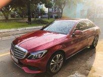 Chính chủ bán Mercedes C250 Exclusive đời 2017, màu đỏ giá 1 tỷ 490 tr tại Tp.HCM