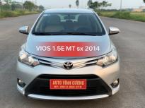 Bán Toyota Vios 1.5E MT năm 2014, màu bạc giá 420 triệu tại Hà Nội