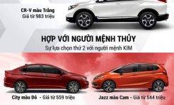 Các màu sơn của xe ô tô Honda hợp mệnh nào?