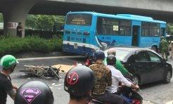Ngã vào gầm xe bus, người đàn ông đi xe máy tử vong tại chỗ